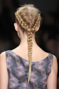 Long, blonde braid