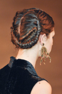 Braided updo for red haired girls