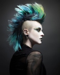 Colourful mohawk for punk girls