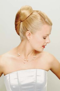 Elegant updo for wedding