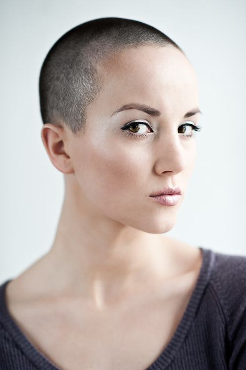 Shaved head hairstyle