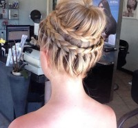 braided updo with bun