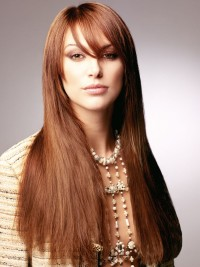 Long, brown hairstyle