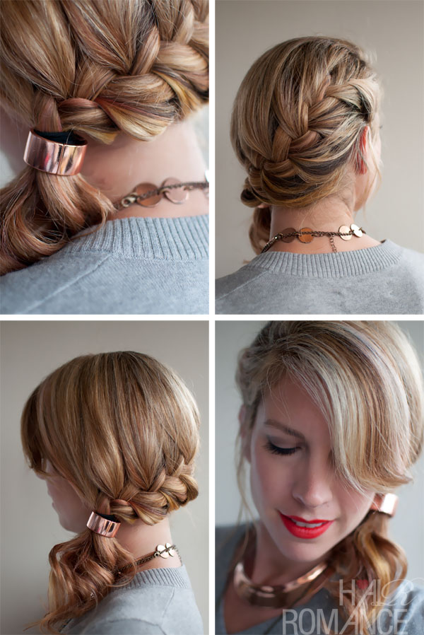 Lovely updo with braids and pony tail