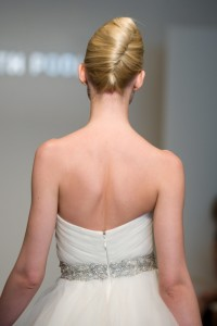 Classic bun for wedding