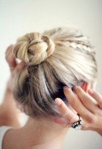 Updo with bun and braids
