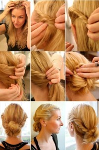 DIY – bun with braid