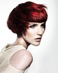 Short, bob, red haircut