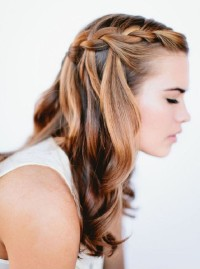 Long, blonde hairstyle with braids