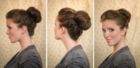 High bun updo