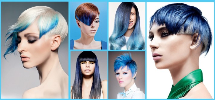 Short hairstyles with blue hair