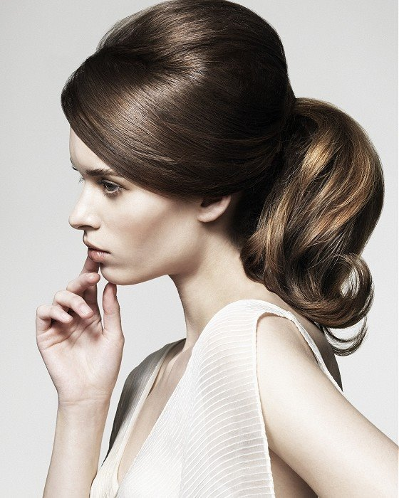 Classic brown long hair with pony tail
