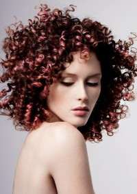 Long, spring curls hairstyle for red haired girls