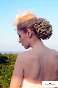 Curly updo for wedding