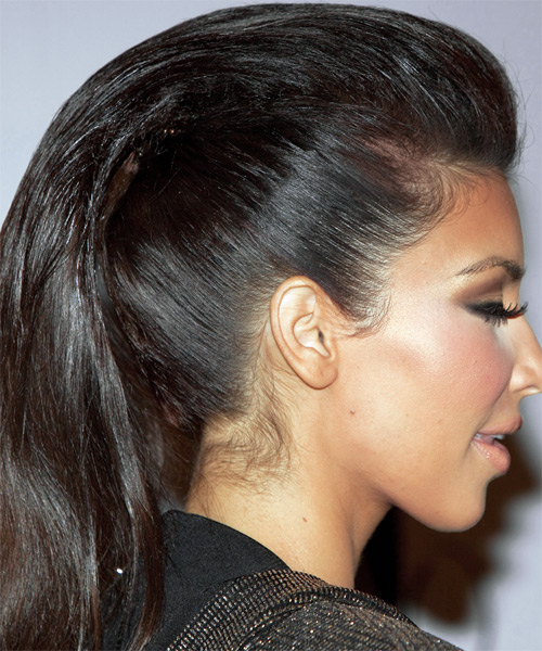 Long, dark Kim Kardashian's hairstyle
