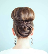 High bun for brown hair