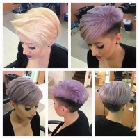 Short, pixie hairstyles with two-toned hair