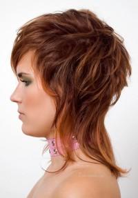 short back long up red hair