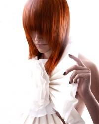 simple medium long red hair