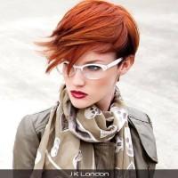 short natural red hair