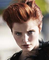 natural red hair short