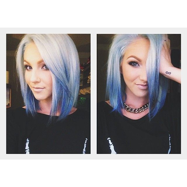 Short Blonde Hair With Blue Streaks Best Short Hair Styles