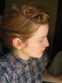 vintage curl updo