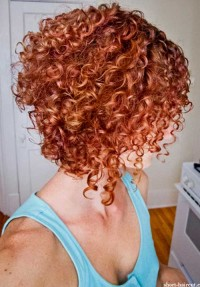 strongly curly hair