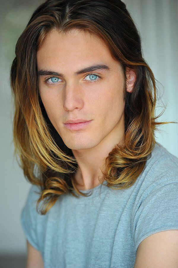 Long, straight, dark blonde hairstyle for men | Hairstyles ...
