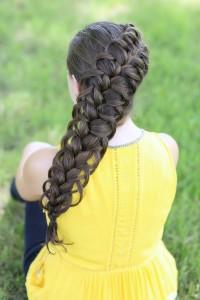Diagonal, French, loop braid for girls