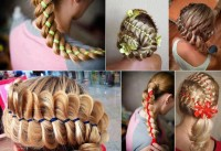 Amazing fish tail braids with tapes