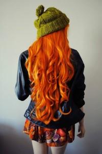 Natural long, ginger hair