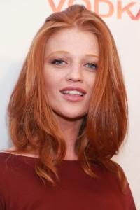 Natural, long, ginger hair