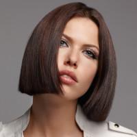 Short, regular cut hairstyle