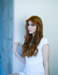 Long, natural, red hair