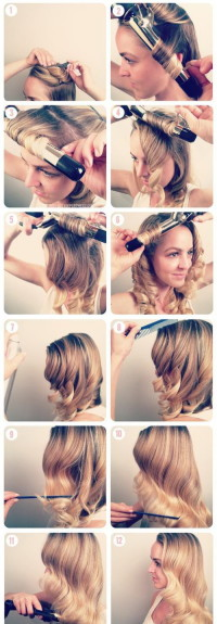 how to make curly hairstyle for blonde hair