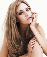 Long, baleyage hairstyle