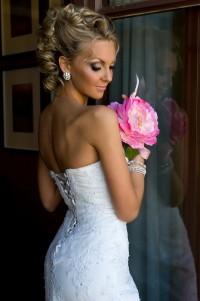 An updo for wedding