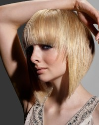 Short, bob style with long front