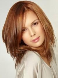 Sweet, medium-length, brown hairstyle