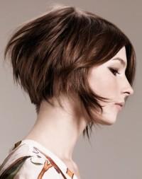 Short, bob haircut for brown hair
