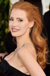 Long, natural red hair