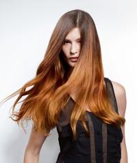Long, auburn hair