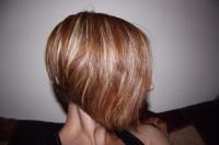 Bob style haircut with baleyage