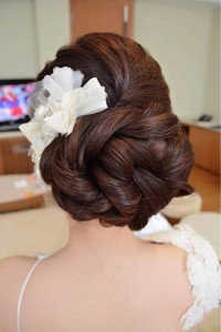 Knot hairstyle for wedding