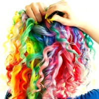 Colourful spring curls