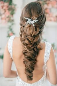 Long, socks curls hairstyle for weeding