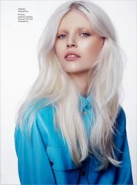 Long, straight, light blonde hair