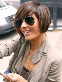 Short, brown haircut