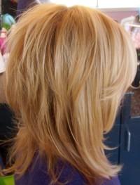 Short, choppy, blonde hairstyle